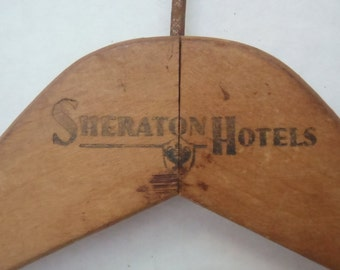 SHERATON Hotel Wooden Hanger Vintage Collectible