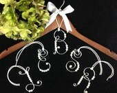 Personalized hanger ornament  Silver or Gold with pearls  Wedding Card Box decoration