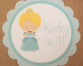Cinderella Party Sign - Customized Princess Party Decor by The Birthday House