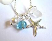 Sea Glass Necklace: Starfish Pearl