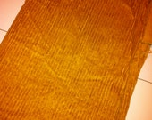Vintage, Fuzzy, Golden Corduroy Fabric - thick stripes - one big piece, 42x56 inches