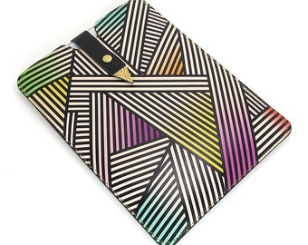 Leather Case for iPad Air, iPad Air 2, iPad 4, iPad Mini, Kindlle, Paperwhite - Bold Geometric