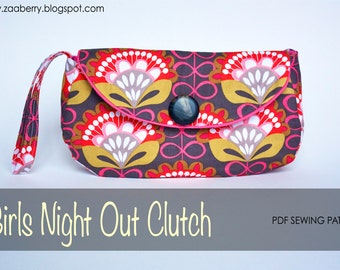 Girls Night Out Clutch - PDF Sewing Pattern