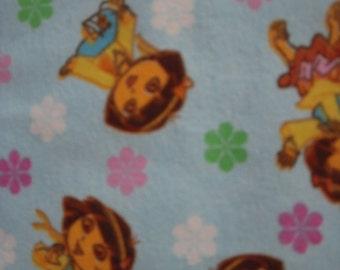 Dora The Explorer Flannel Fabric