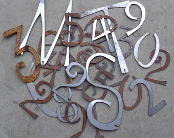 SHIP NOW  - Destash -  NuMbErS and LeTtErs -  metal pieces, scrap metal, collage pieces, steam punk, mixed media, scrapbooking