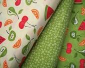 YARD Bundle - 5% OFF! Moda Fabric, Sassy Fruit, Designer Cotton Quilt Fabric, Fruit Fabric, Green Fabric, Quilting Fabric