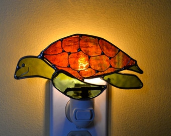 Kaylo the Sea Turtle  Stained Glass Nightlight
