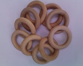 300  Unfinished Natural Wood RIngs for Baby Teether Rings Bulk Listing For Your Own Projects
