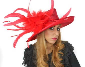 Red Hat for Weddings, Races, Kentucky Derby, Melbourne Cup