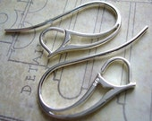 Sterling silver earwires French style large loops for swarovski helios rings and layered looks 1 pair