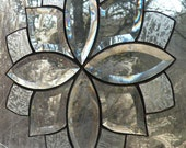 Clear Beveled Stained Glass window panel
