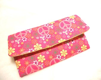 Peace Signs Fabric Wallet/Wristlet