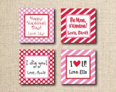 Valentine Tags/Stickers, Digital, you print