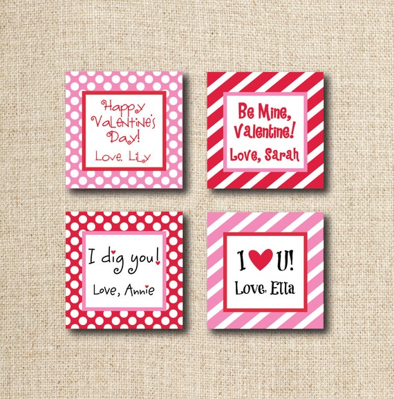 Valentine Tags/Stickers, Digital, you print