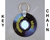 Vinyl Record Personalized Round Double Sided Key Chain
