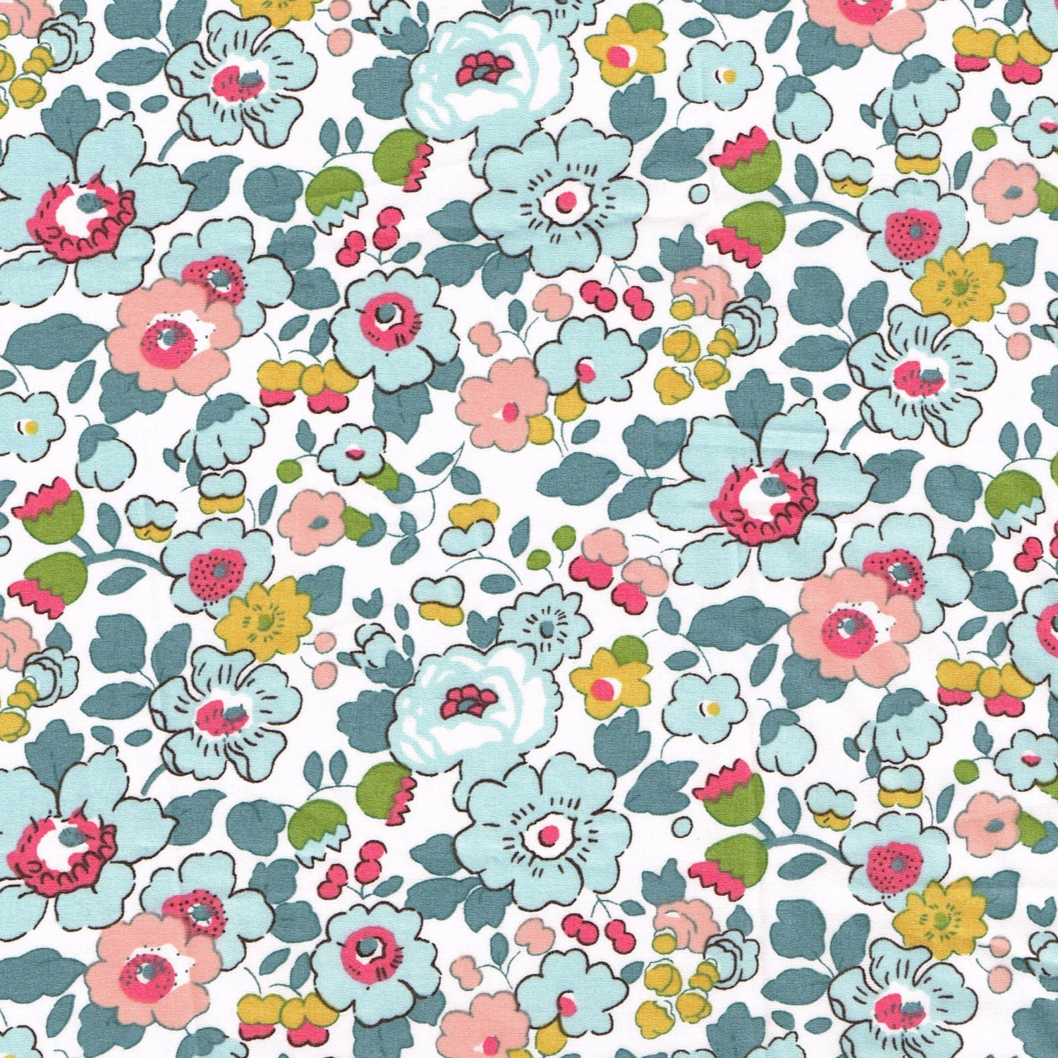 Liberty Fabric Betsy Pale Blue Tana Lawn One Yard