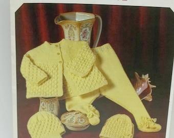 Vintage Baby leggings knitting pattern,baby coat bonnet helmet knitting pattern by Richard Poppleton no 1864,baby clothes knitting pattern