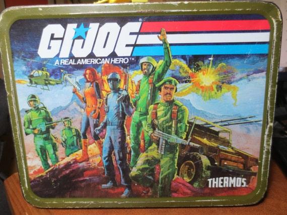 Vintage Metal Lunchbox Retro 1982 Gi Joe Lunchbox Thermos