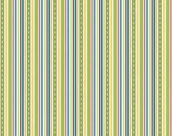 SUMMER SALE - Cruiser Blvd - Stripe in Green - 1 Yard - Sku C3226 - by Sherri McCulley for Riley Blake Designs