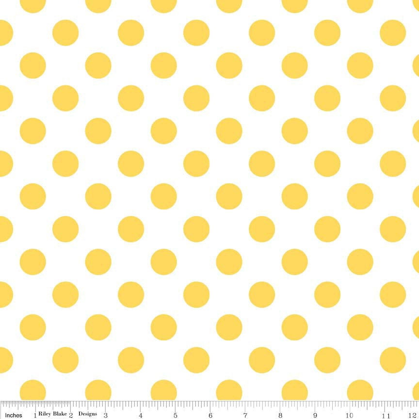 Yellow Blouse With White Polka Dots 7
