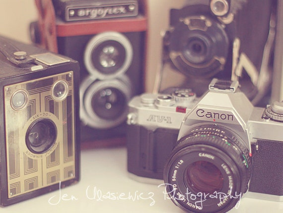 Vintage Camera Collection Photography Print