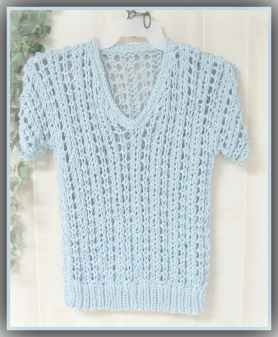 Xl Knitting Patterns : Large and plus sizes adult spring summer pullover