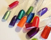 200 clear Nail Polish Swatch Sticks (plastic fake/false nails for testing colors)