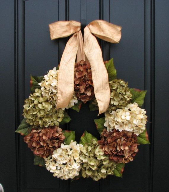 Hydrangea Wreath, SPRING Wreaths, Spring Decorations, Etsy Wreaths, Spring Summer Hydrangeas, Home and Living