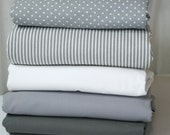 Queen Duvet Cover  - essential collection - Grey & White  - choose your fabric