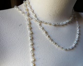 FULL Yard Bead Chain. in Clear AB for Rosary, Bridal, Jewelry, Eyeglass Chains, Sweater Clips, or Costume Design