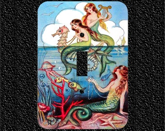 Vintage Italian Mermaids Single Light Switch Plate Covers Toggle/Rocker/Outlet