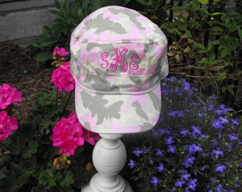 Infant  Pink Camouflage Hat  Monogrammed Personalized