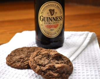 Guinness Chocolate Chunk Cookies - 1 dozen homemade beer cookies
