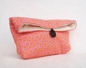 Pink Clutch Purse, Dots, Womens Clutch Purse, Bridesmaid Gift, Bridesmaid Clutch, Feminine, Girly, Makeup Bag