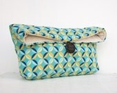 Blue Clutch Purse, Bridesmaid Gift, Bridesmaid Clutch, Makeup Bag, Gift Under 25, Cosmetic Bag