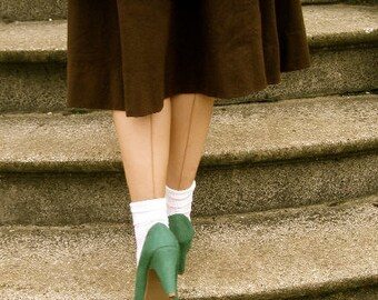 1940's Cuban Heels Seam Stockings