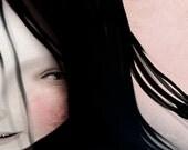 5x7 Art Print - 'Swim' - Water Nixie/Siren Art - Small Sized Fine Art Giclee Print - Dark Lowbrow Art by Jessica Grundy
