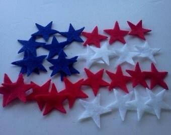 "Choose your own amount of Felt Stars  Die cut 1""  Felt Star  (You Choose your Color)"