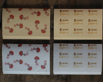mihoko seki - kokeshi washi paper set - 4 types