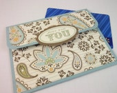 Gift Card Holder- Lt. Blue Paisley,Mother's Day,Graduation,Birthday Gift