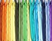 SALE 100 Assorted 14 Inch YKK Zippers