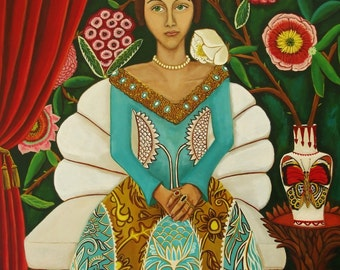 Art Print of original painting Donatella's Arrival  Open Edition Catherine Nolin