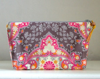Kaleidoscope  Wide Padded Zipper Pouch Gadget Case Cosmetics Bag - READY TO SHIP