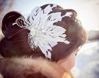 Snowflake Hair Fascinator
