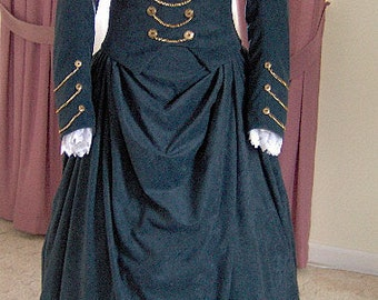 FOR ORDERS ONLY Custom Made - 1800s Victorian Dress 1880s Bustle Gown  Traveling Suit Riding Habit Equestrian Jacket Skirt - Gothic Bodice