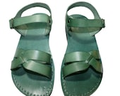 Green Circle Leather Sandals for Men & Women
