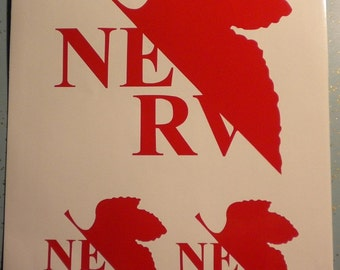 3x Evangelion Nerv vinyl decal stickers anime laptop window Neon Genesis