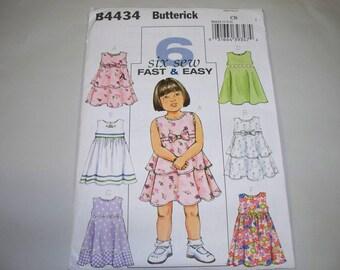New Butterick, Girl's Dress  Pattern, B4434 (CB) (1,2,3) (Free US Shipping)