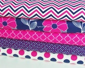 Camelot Fabrics In The Navy Bundle 5 yards total