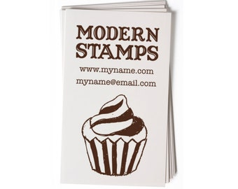 Business Card Stamp   Custom Rubber Stamp   Custom Stamp   Personalized Stamp   Cupcake Stamp   Bakery Stamp   Vintage Stamp   BC42
